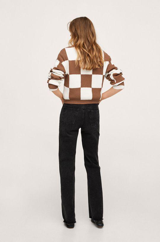 Mango - Sweter Chess 22 % Poliamid, 28 % Poliester, 50 % Wiskoza