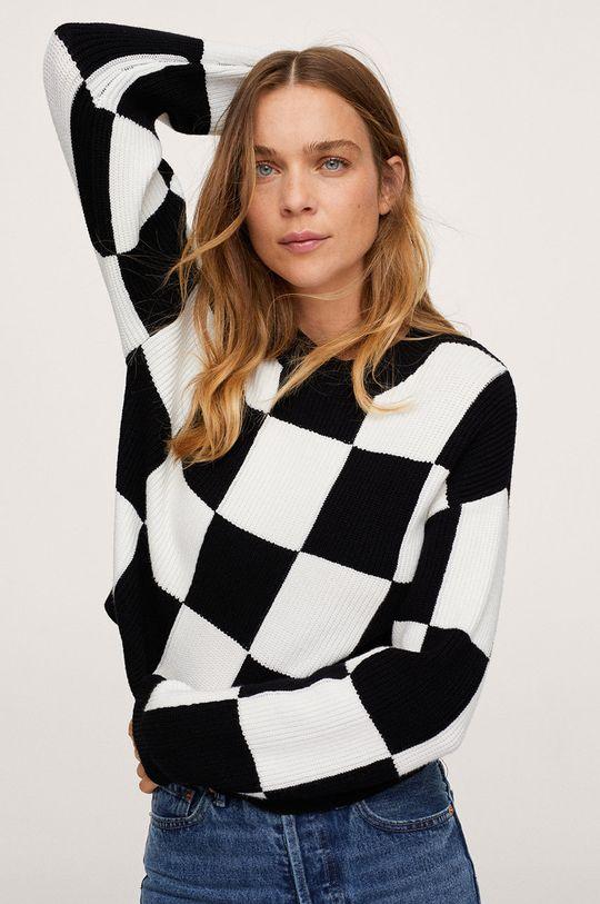 czarny Mango - Sweter Chess