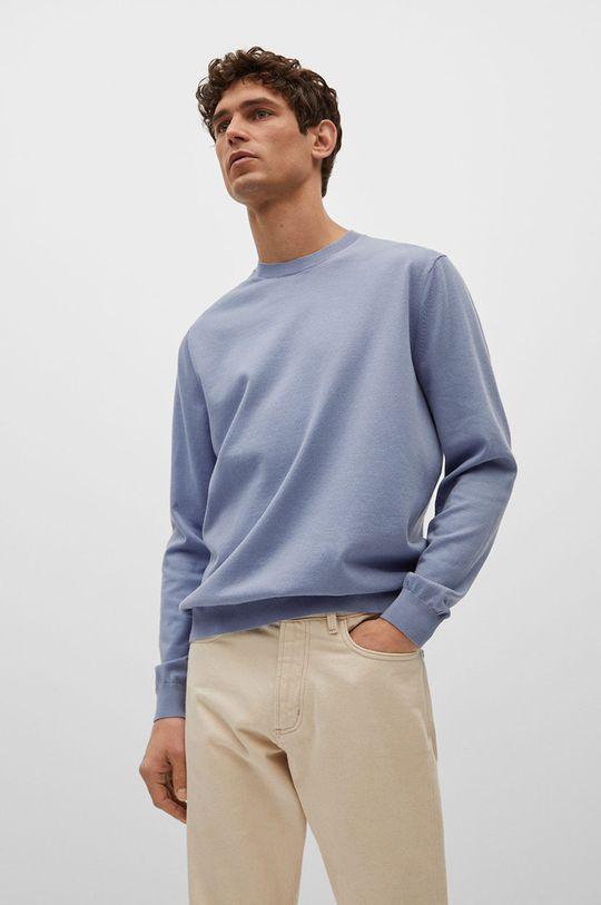 blady niebieski Mango Man - Sweter Ten Męski