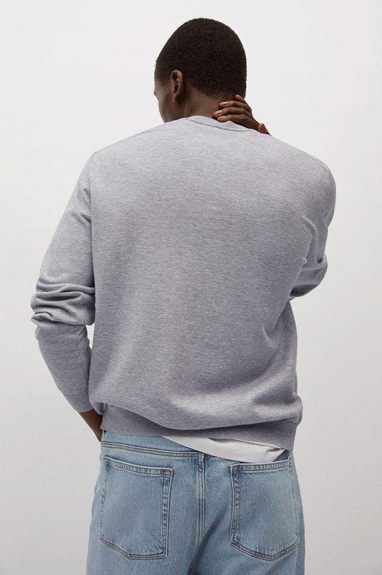 jasny szary Mango Man - Sweter Ten