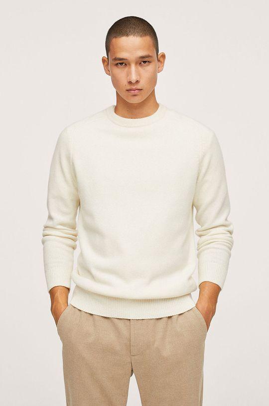biały Mango Man - Sweter Lotus Męski