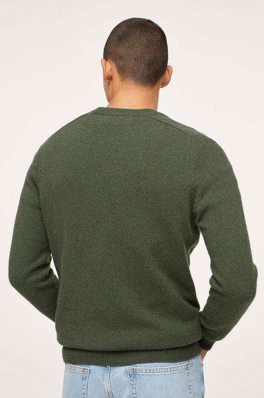 Mango Man - Sweter Lotus 5 % Kaszmir, 45 % Poliamid, 50 % Wełna