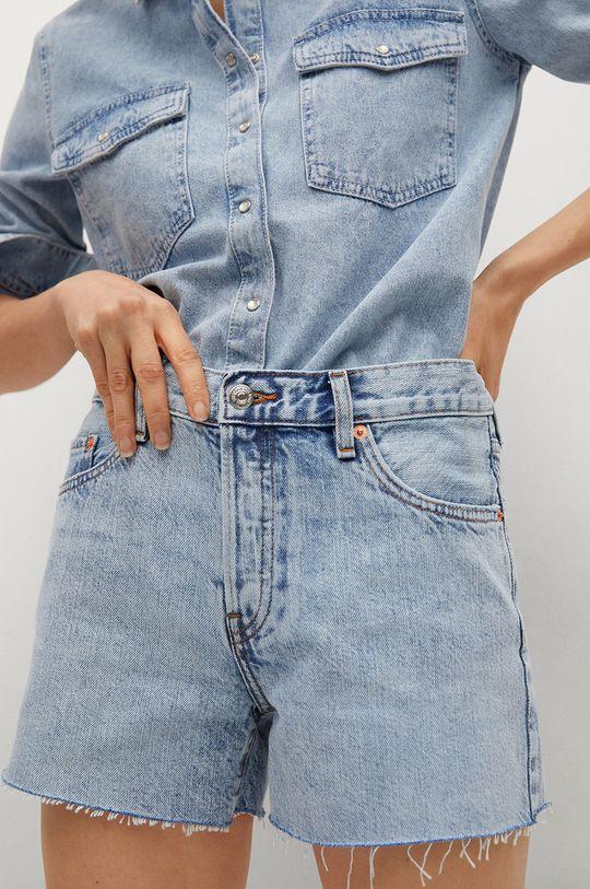 fialová Mango - Rifľové krátke nohavice Hailey Dámsky