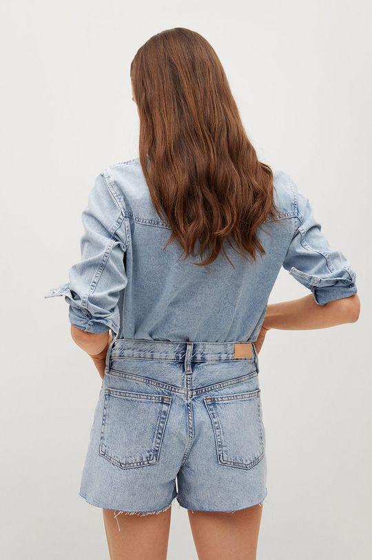 Mango - Rifľové krátke nohavice Hailey  100% Bavlna