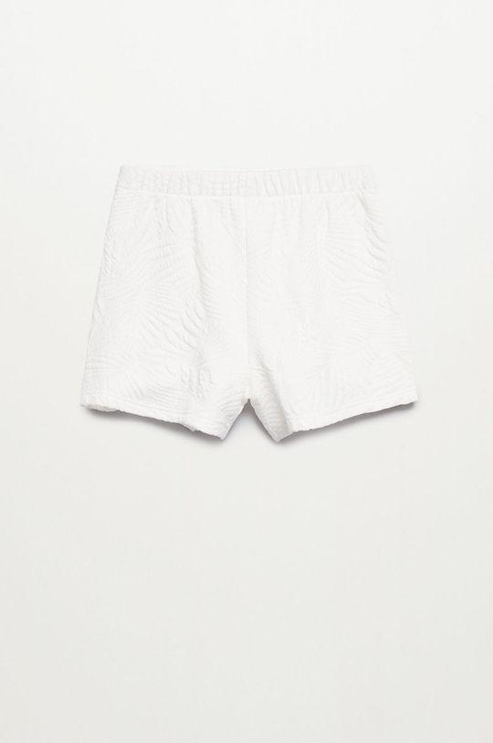 biały Mango Kids - Szorty dziecięce MALIBUP Dziewczęcy