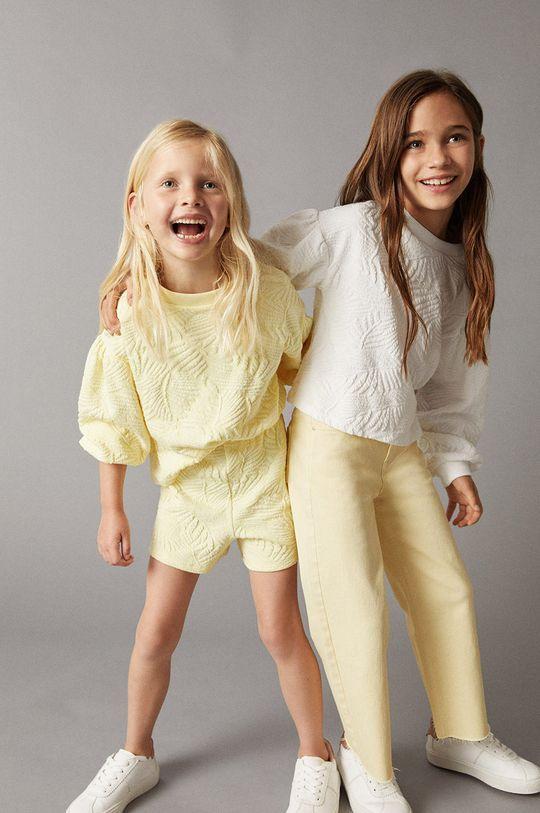 żółty Mango Kids - Szorty dziecięce MALIBUP