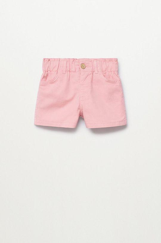 różowy Mango Kids - Szorty dziecięce Kala 86-104 cm Dziewczęcy
