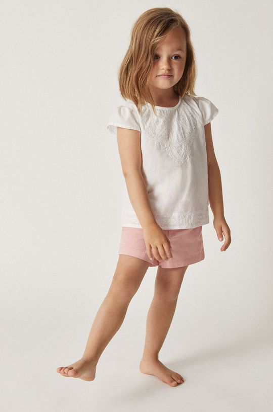 Mango Kids - Szorty dziecięce Kala 86-104 cm różowy
