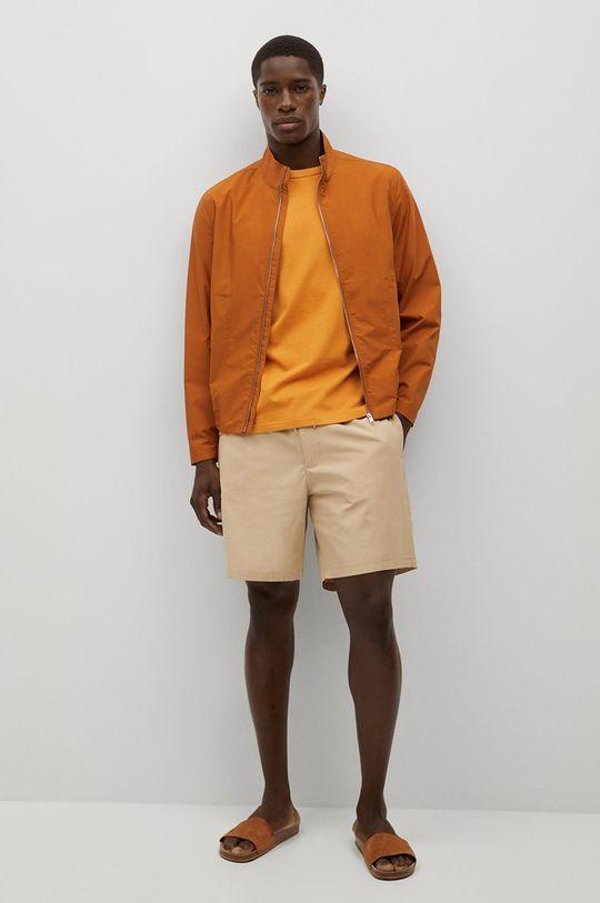 Mango Man - Kraťasy Venise  Hlavní materiál: 50% Bavlna, 50% Lyocell Podšívka kapsy: 35% Bavlna, 65% Polyester
