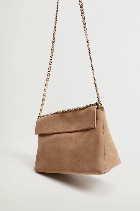 Mango - Kožená kabelka TOSSA  Podšívka: 40% Bavlna, 60% Polyester Hlavní materiál: 100% Telecí kůže