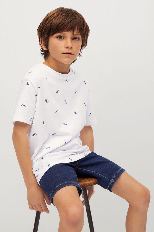 biały Mango Kids - T-shirt dziecięcy STAMP1 Chłopięcy