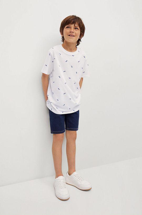 Mango Kids - T-shirt dziecięcy STAMP1 biały