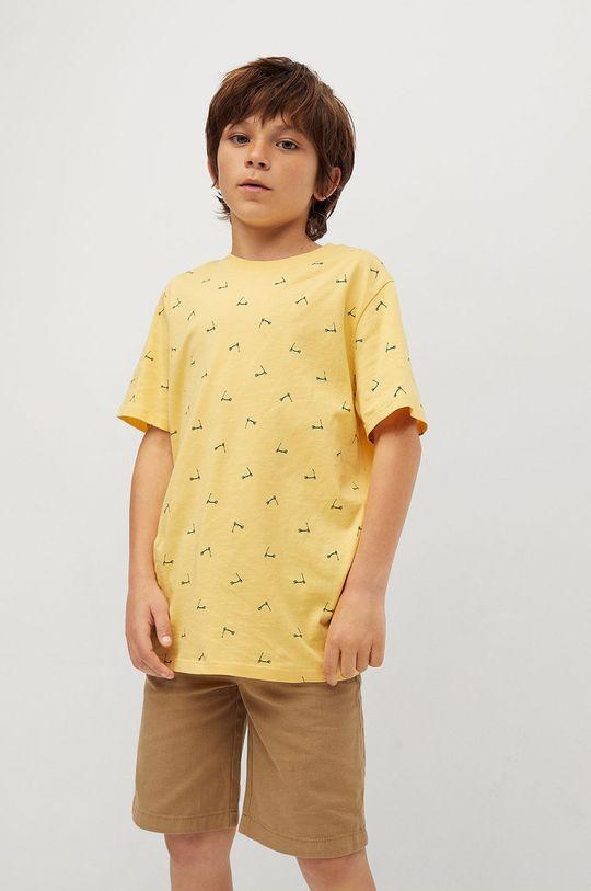 żółty Mango Kids - T-shirt dziecięcy STAMP1 Chłopięcy