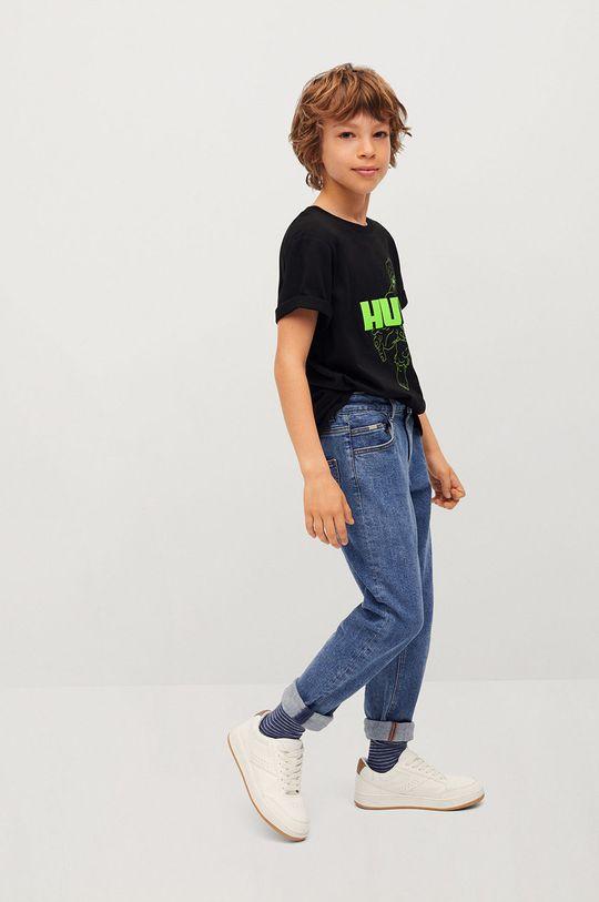 čierna Mango Kids - Detské tričko HULK Chlapčenský