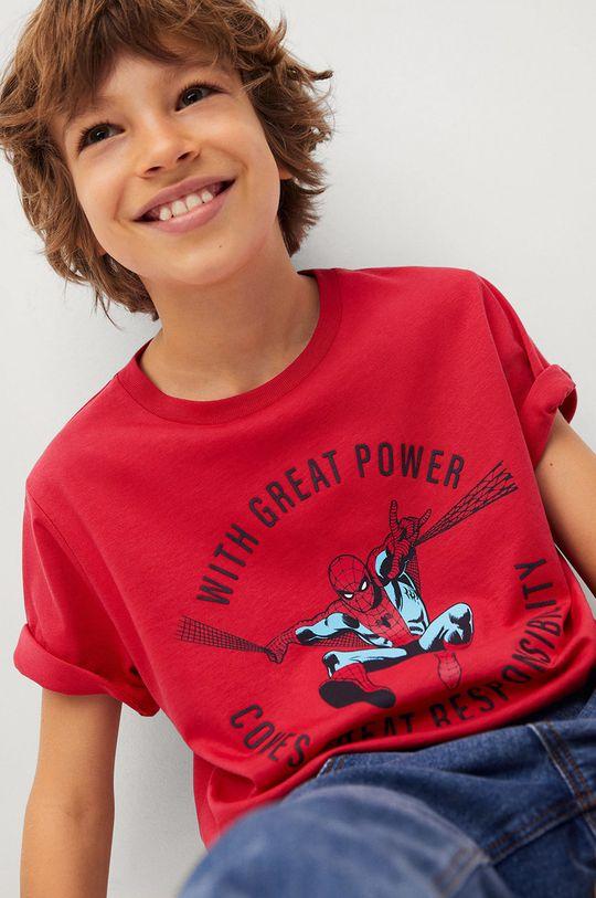 červená Mango Kids - Dětské tričko POWER Chlapecký