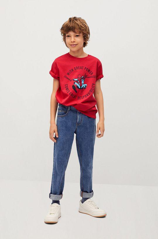 Mango Kids - Dětské tričko POWER červená