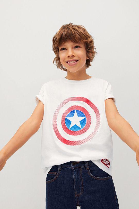 biela Mango Kids - Detské tričko CIRCLE Chlapčenský