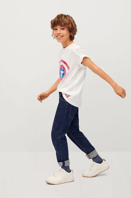 Mango Kids - Detské tričko CIRCLE biela