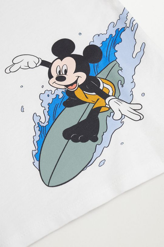 Mango Kids - Detské tričko SURFER biela