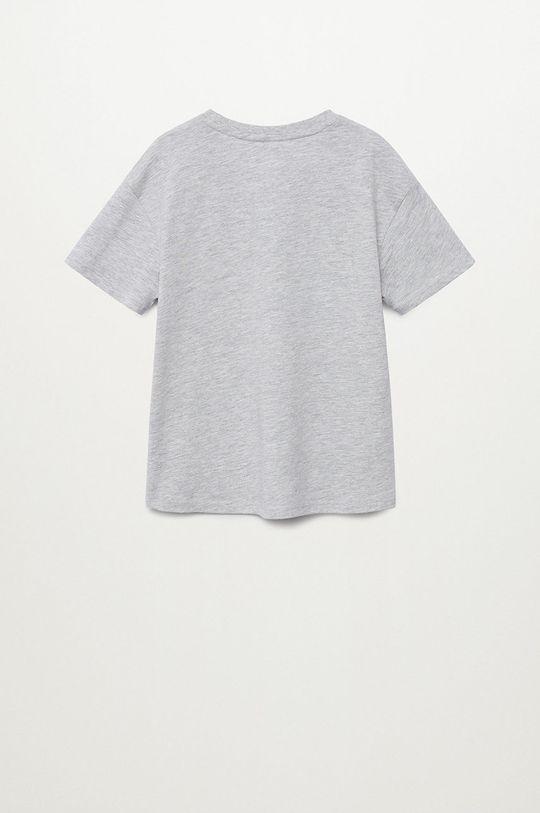 Mango Kids - Dětské tričko Space 116-164 cm šedá