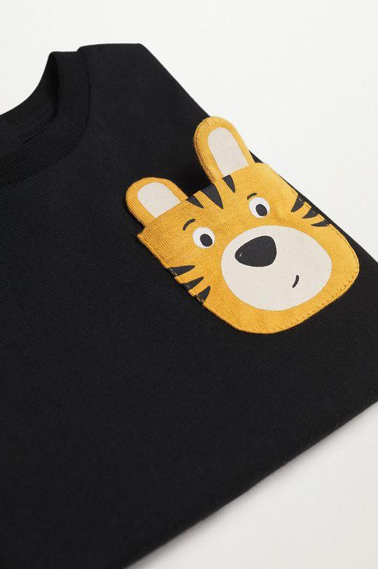 Mango Kids - Longsleeve dziecięcy Tiger 100 % Bawełna