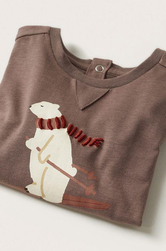 Mango Kids - Dětská bavlněná košile s dlouhým rukávem Artic  100% Bavlna