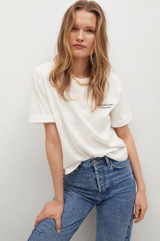 bílá Mango - Tričko PSTWASH1 Dámský