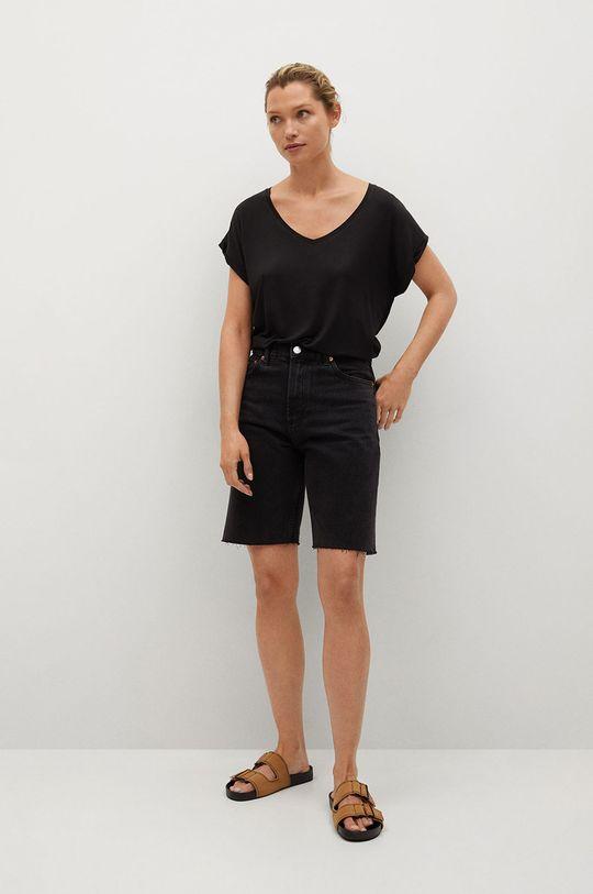 Mango - T-shirt VISPI czarny