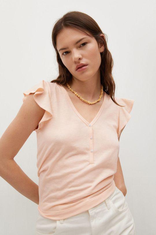 piaskowy Mango - T-shirt Ane Damski