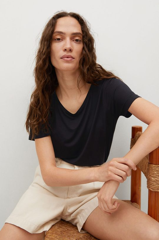czarny Mango - T-shirt Visca