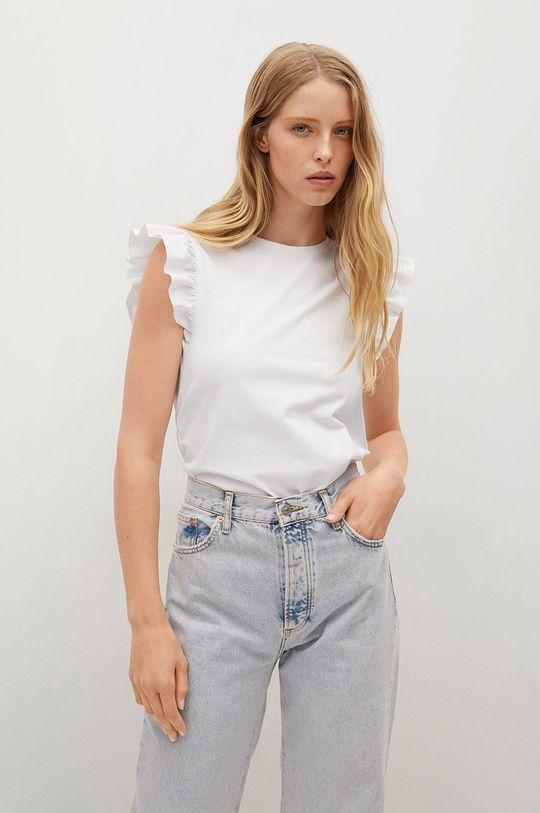 biały Mango - T-shirt bawełniany Pepi Damski