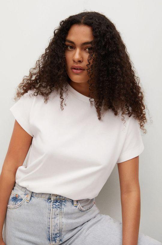 biały Mango - T-shirt bawełniany Sevilla1 Damski