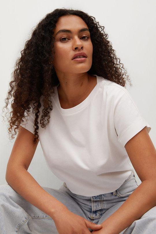 biały Mango - T-shirt bawełniany Sevilla1