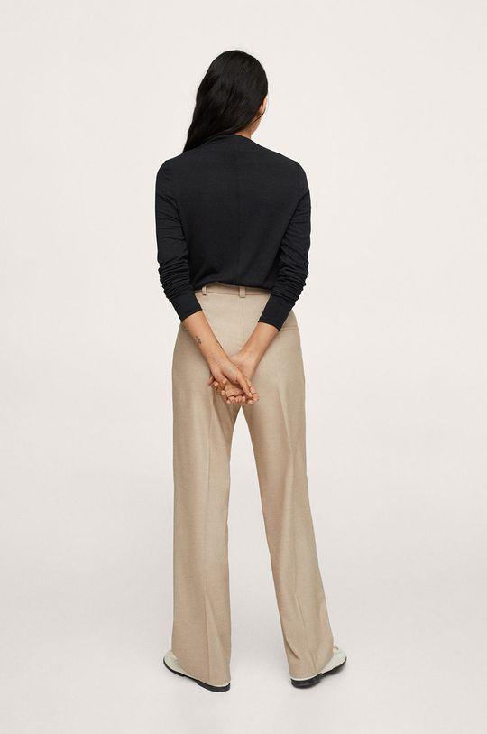 Mango - Tričko s dlhým rukávom Menina  6% Elastan, 59% Polyester, 35% Viskóza