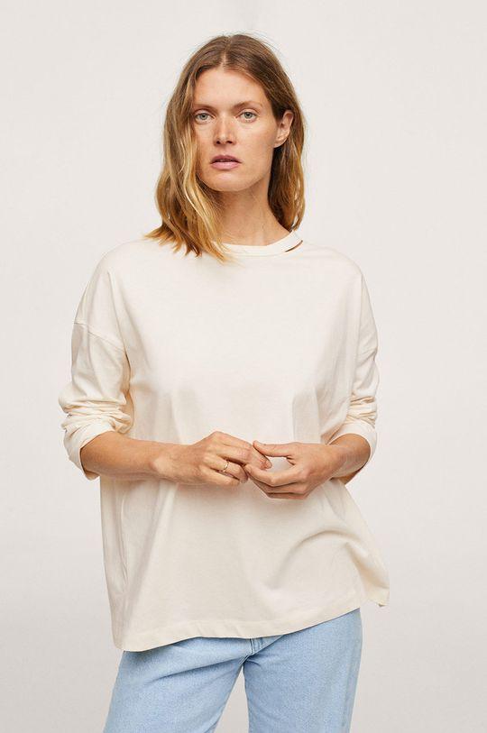 bílá Mango - Bavlněné tričko s dlouhým rukávem Spcati Dámský