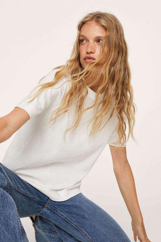 bílá Mango - Bavlněné tričko Soli