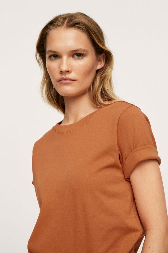 Mango - Bavlněné tričko Soli Dámský