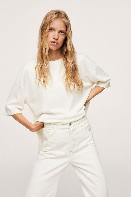 biały Mango - T-shirt bawełniany Sita Damski