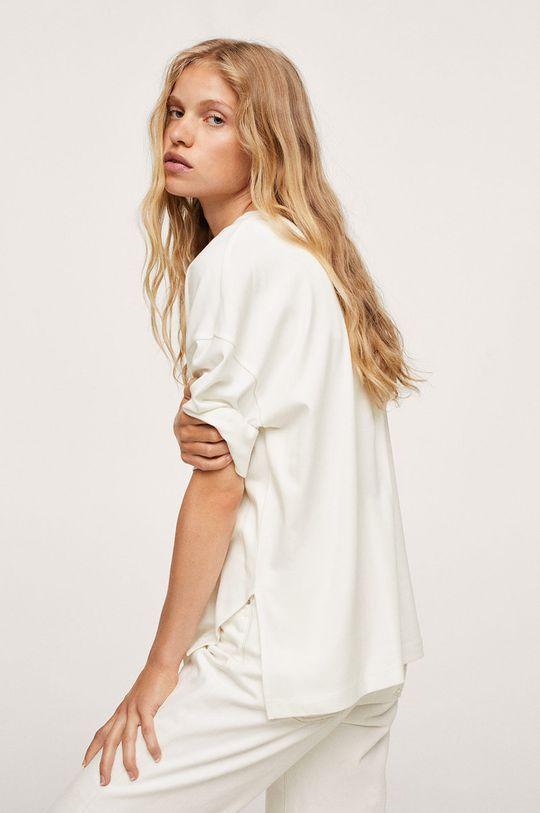 biały Mango - T-shirt bawełniany Sita