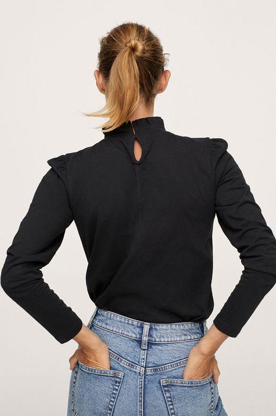 Mango - Bavlněné tričko s dlouhým rukávem Roca  100% Bavlna