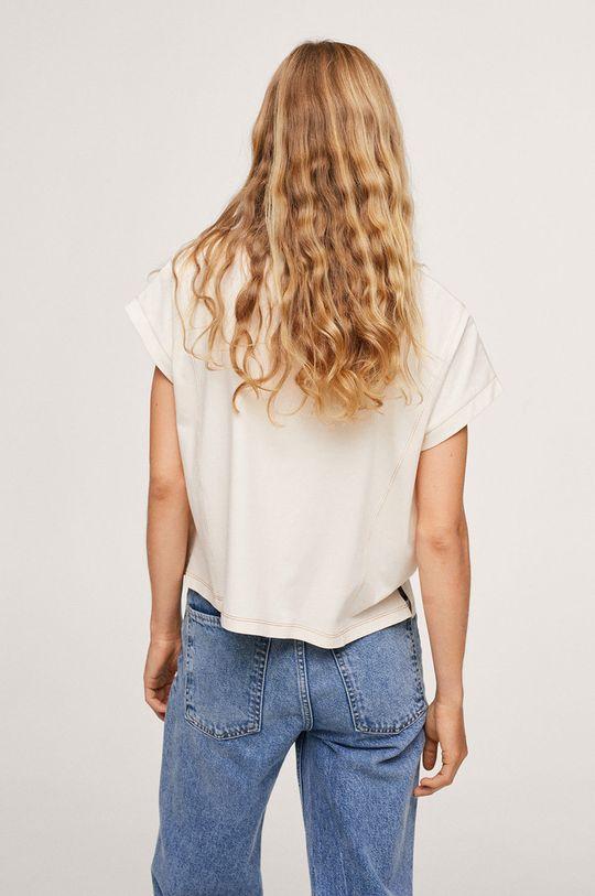 Mango - Bavlněné tričko Spcharo  100% Bavlna