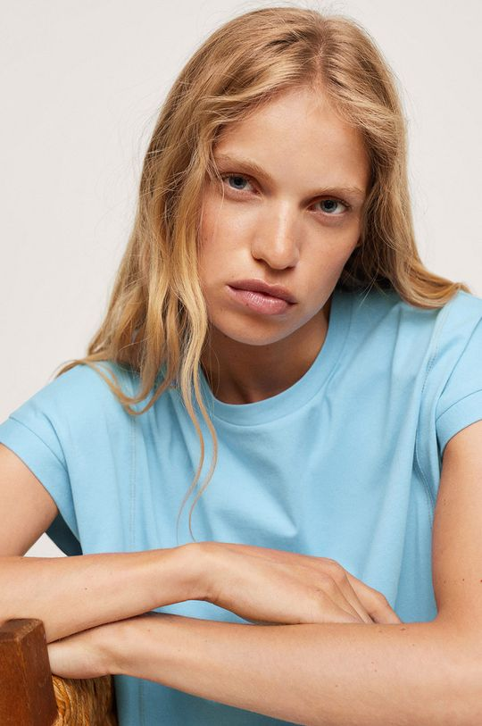 Mango - T-shirt bawełniany Spcharo Damski