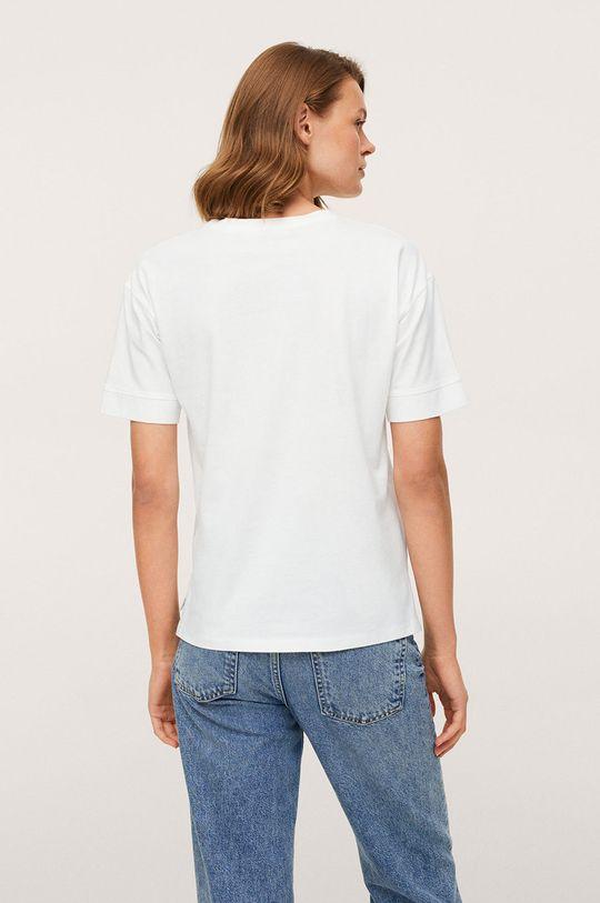 Mango - Bavlněné tričko Pstcolor  100% Bavlna