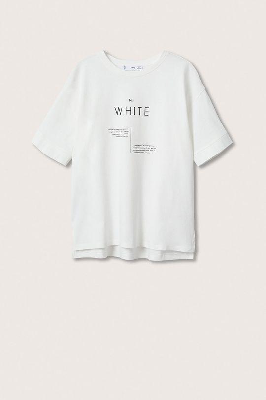 Mango - Bavlněné tričko Pstcolor