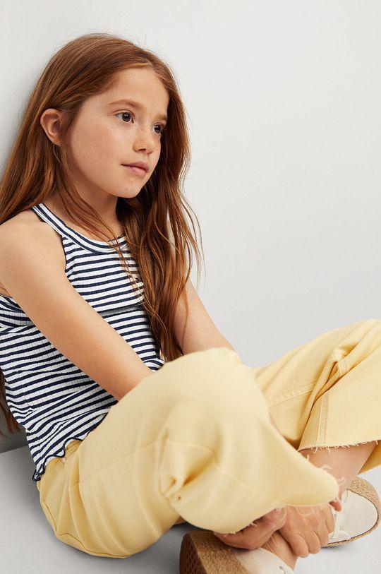 Mango Kids - Top dziecięcy LANE 5 % Elastan, 95 % Bawełna organiczna