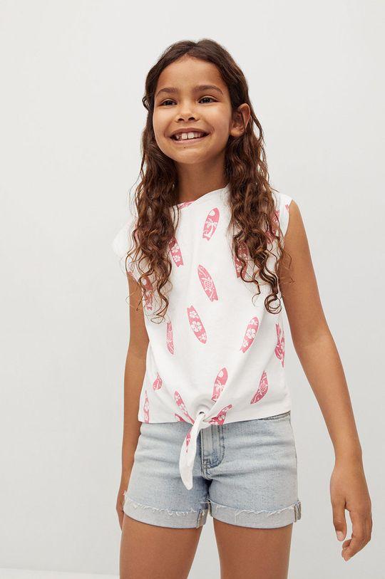 biały Mango Kids - T-shirt dziecięcy SAFARI Dziewczęcy