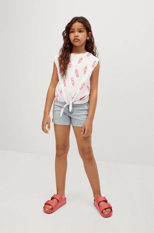 Mango Kids - T-shirt dziecięcy SAFARI biały
