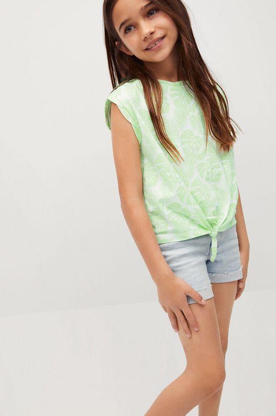 zielony Mango Kids - T-shirt dziecięcy SAFARI Dziewczęcy