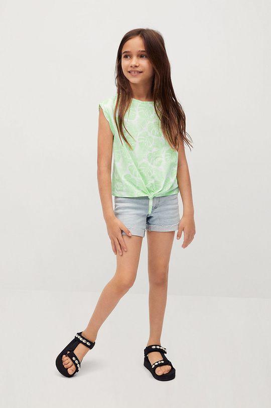Mango Kids - T-shirt dziecięcy SAFARI zielony