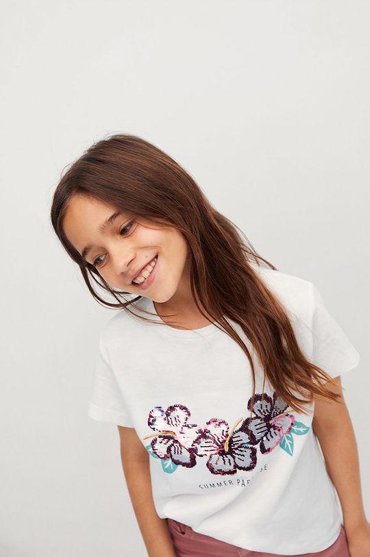Mango Kids - T-shirt dziecięcy SEQUI 100 % Bawełna